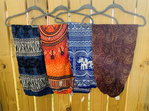 Harem pants on display